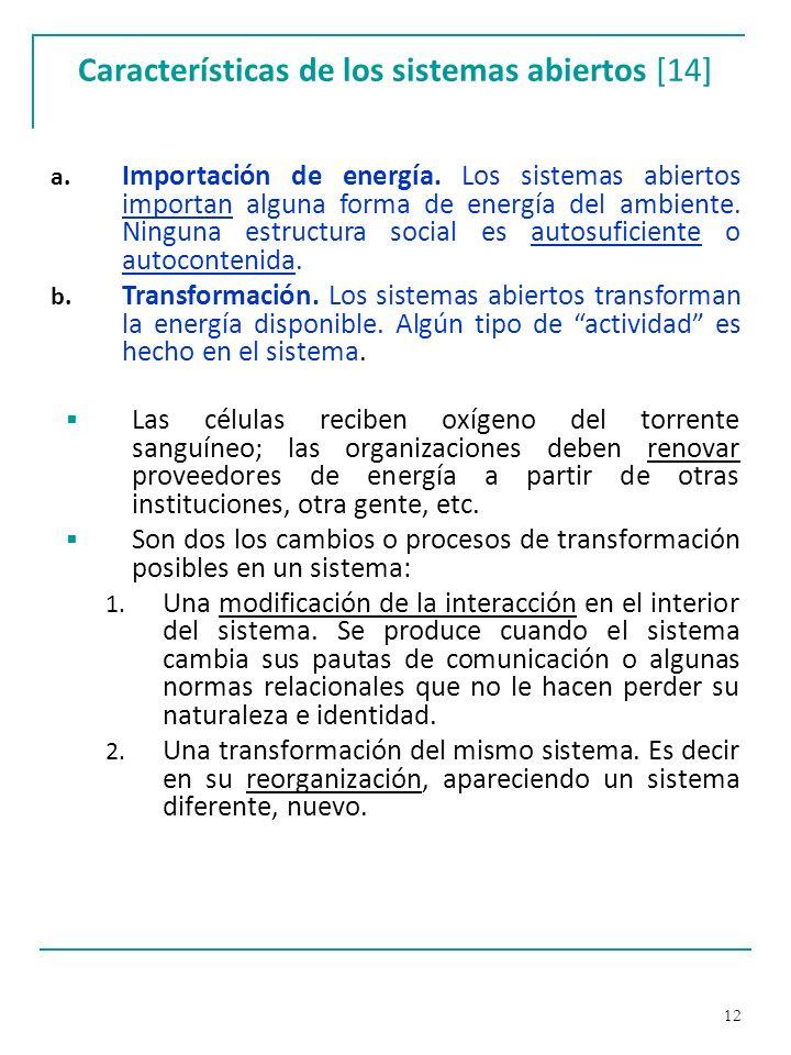 Características de los sistemas abiertos [14]